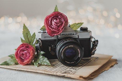 camara con flores